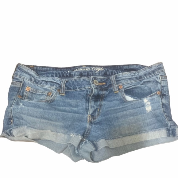 American Eagle Shortie Shorts medium wash size 12